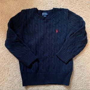 Polo Ralph Lauren Cotton Cable Knit Crew Sweater